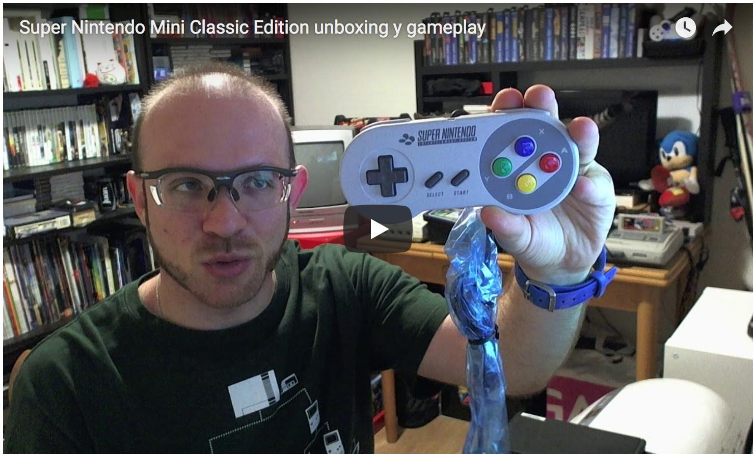Super Nintendo Mini Classic Edition unboxing y primer gameplay a Mario Kart